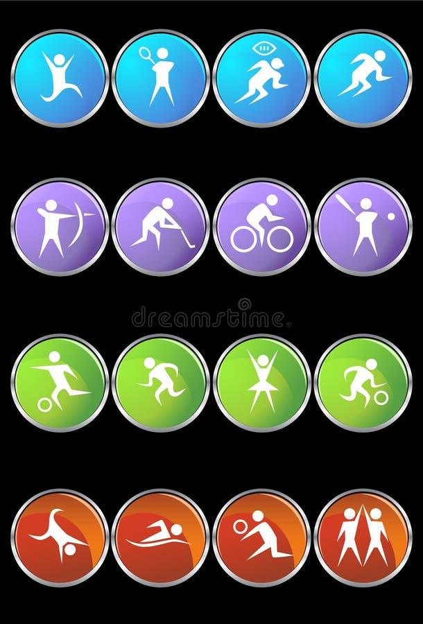 Athlete Icons stock illustration