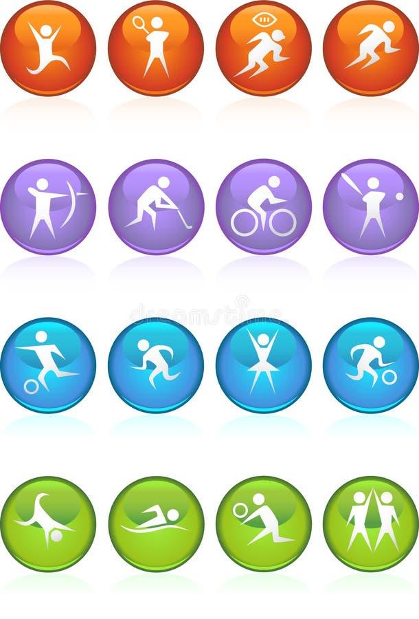 Athlete Icons royalty free illustration