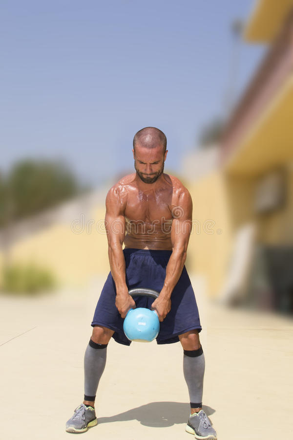Athlete Lifting Weights Royalty Free Stock Image