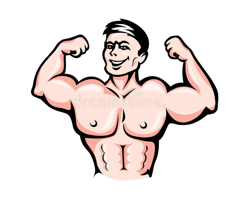Athlete With Muscles Royalty Free Stock Image