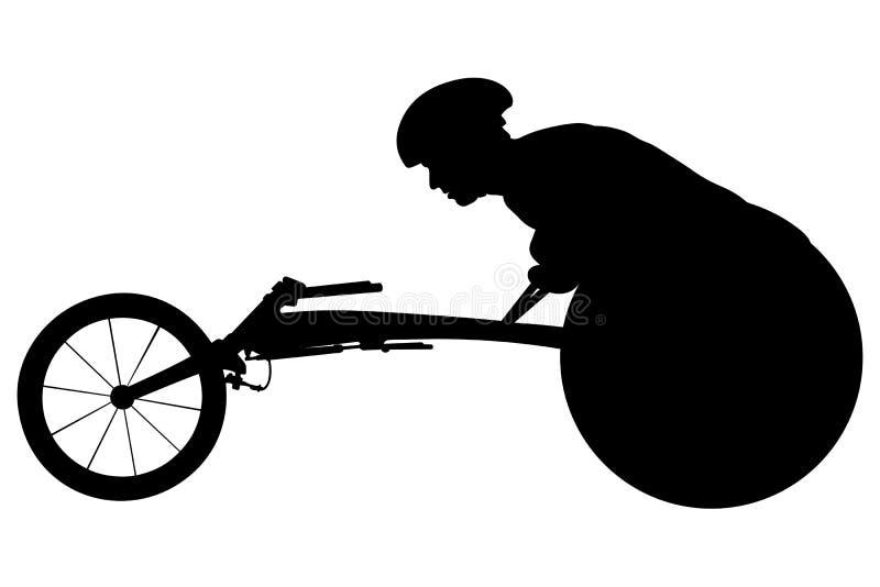 Athlete racer on wheelchair vector illustration