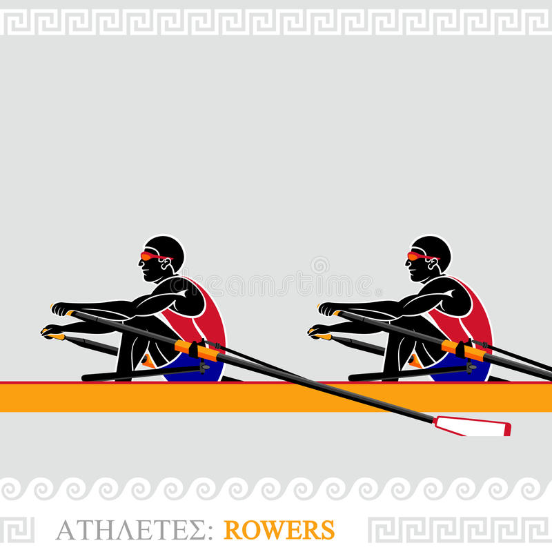 Download Athlete Rowers stock vector. Image of paddle, sunglasses - 25257338