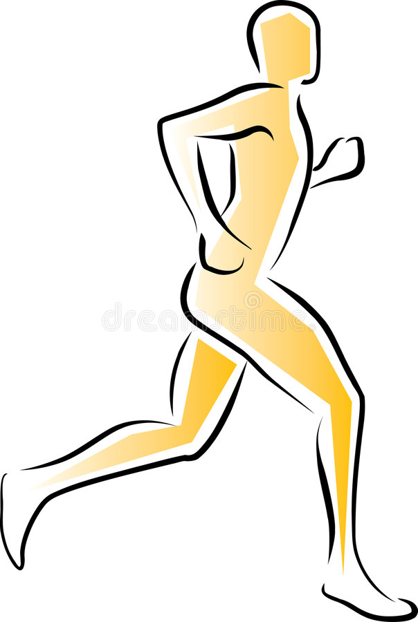 Athlete Running stock illustration