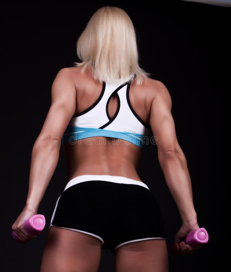 Athlete with body stock photography