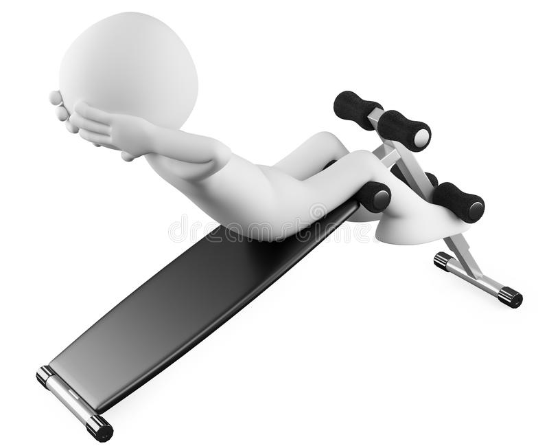 Download Athlete in a sit-ups bench stock illustration. Image of sweat - 21651782