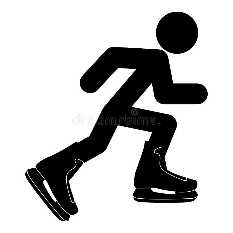Athlete skater in skating icon black color illustration flat style simple image vector illustration