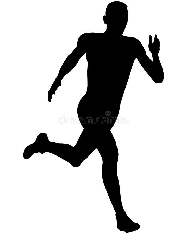Athlete sprinter runner stock illustration