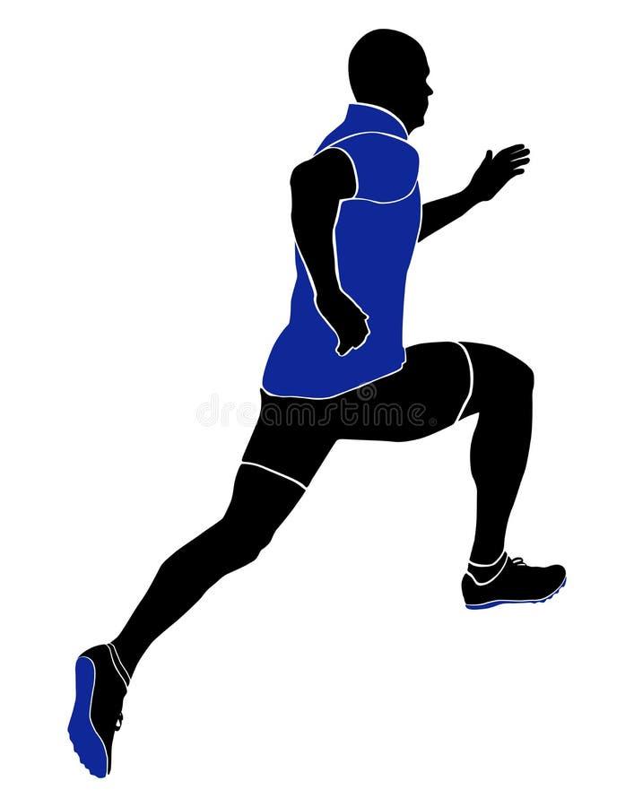 Athlete sprinter runner royalty free illustration