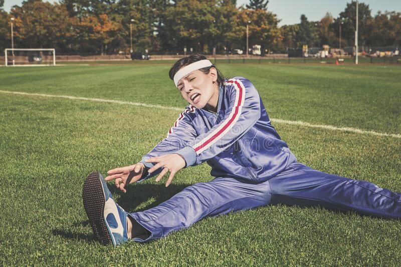 Athlete Stretching On Field Free Public Domain Cc0 Image