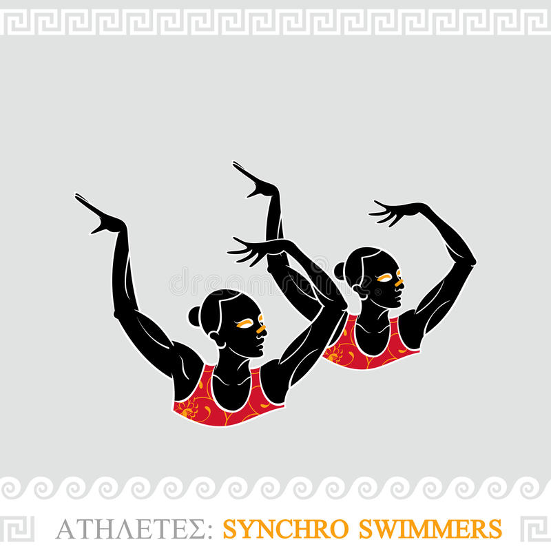 Download Athlete Synchro Swimmers Stock Photo - Image: 25778750