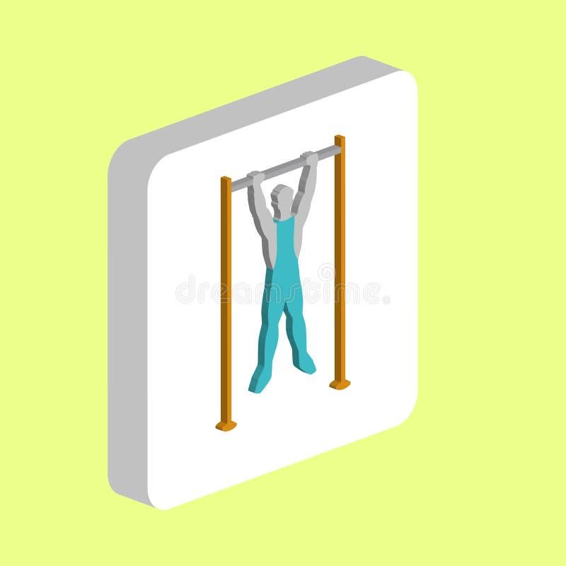Athlete, Training computer symbol royalty free illustration
