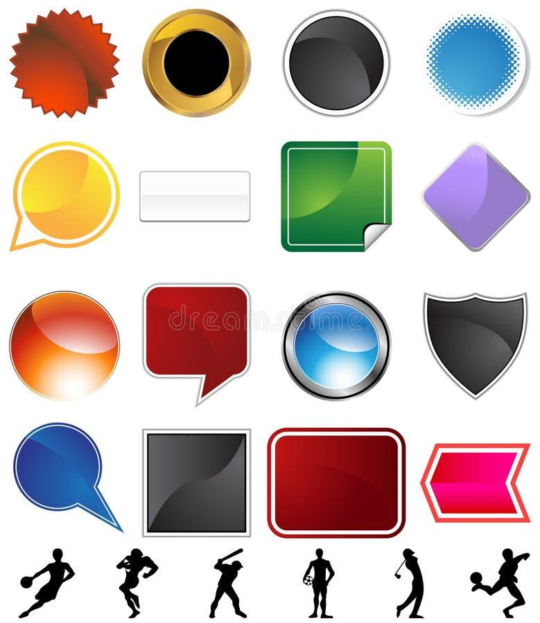 Athlete Variety Set stock illustration