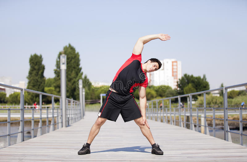 Download Athlete Warming And Stretching Stock Photo - Image: 21995236