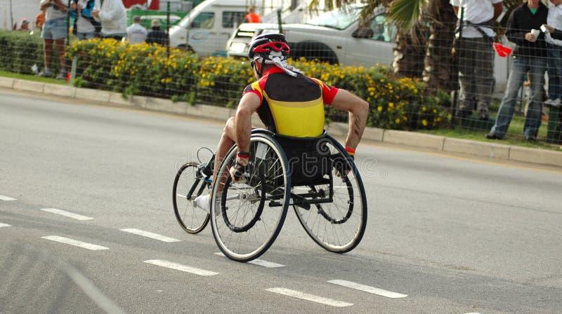 Athlete in wheelchair stock photo
