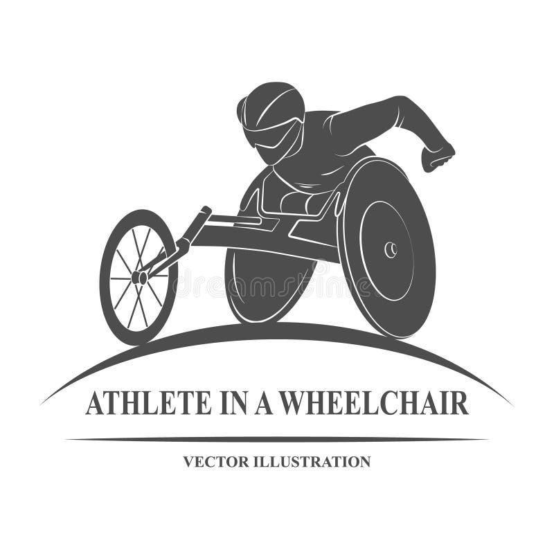 Athlete wheelchair Icon stock illustration