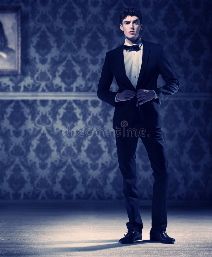Download Athlete Young Man Wearing Perfect Tuxedo Stock Photography - Image: 30924552