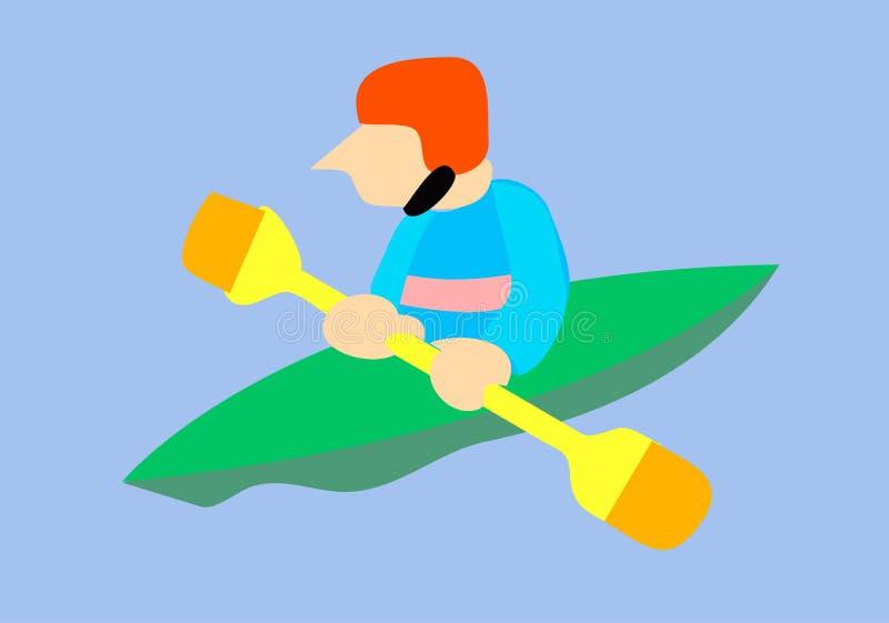 Athleten-Kajak lizenzfreie abbildung