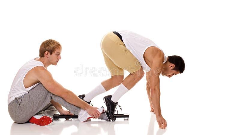Athleten-Sprinten lizenzfreies stockfoto