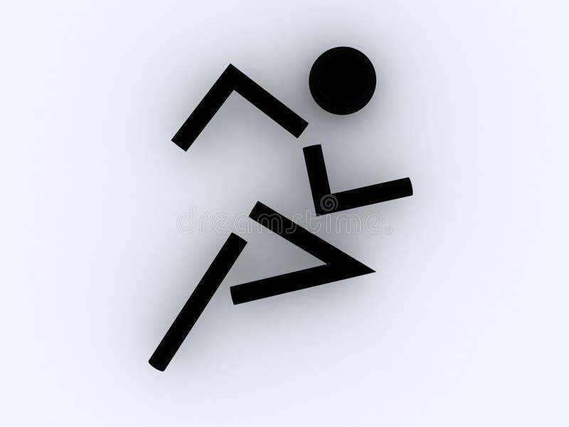 Athleten-Symbol stock abbildung