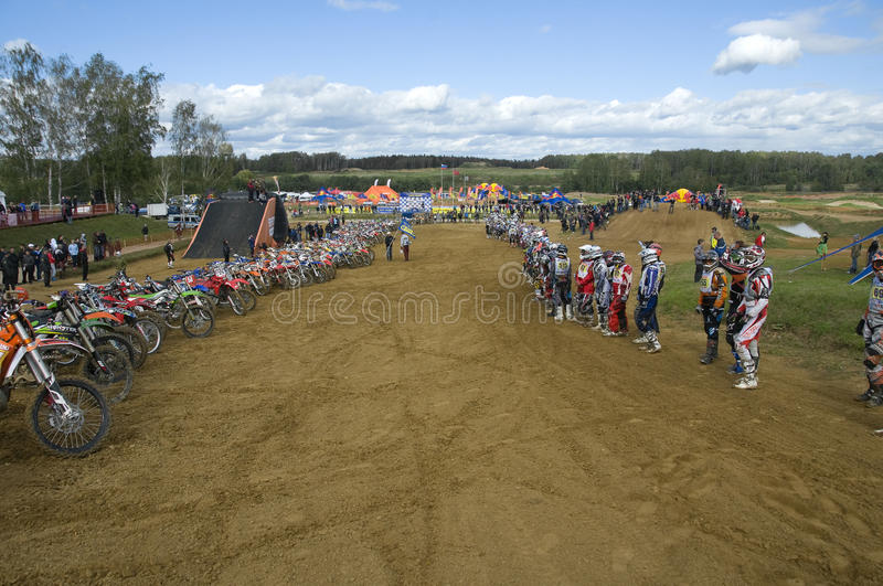 Download Athletes And Equipment Ready To Start Editorial Image - Image of motocross, male: 27591190