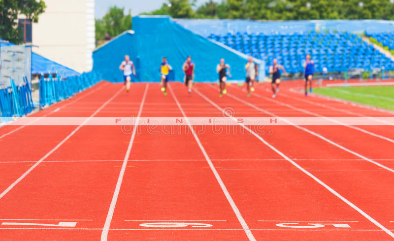 Athletes race men stock photos