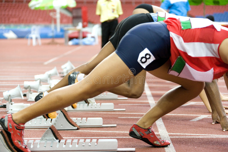 Athletes Starting stock photos