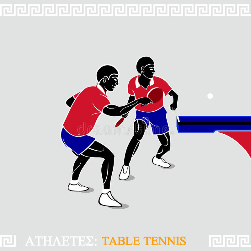 Download Athletes table tennis stock vector. Illustration of match - 24979271