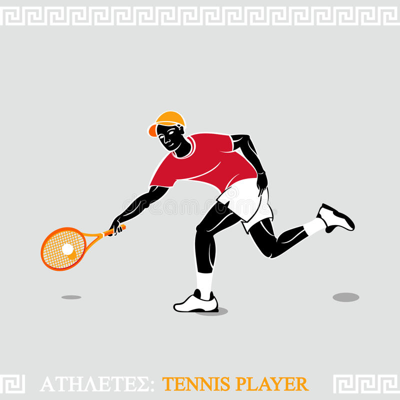 Download Athletes tennis player stock vector. Illustration of drawing - 25026868