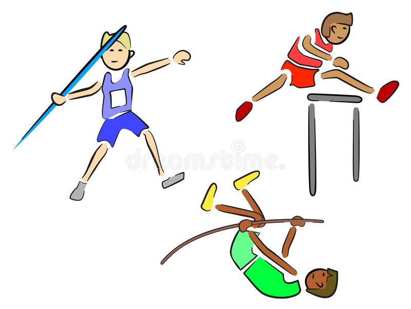 Download Athletes (Track and Field) stock vector. Image of country - 25032037