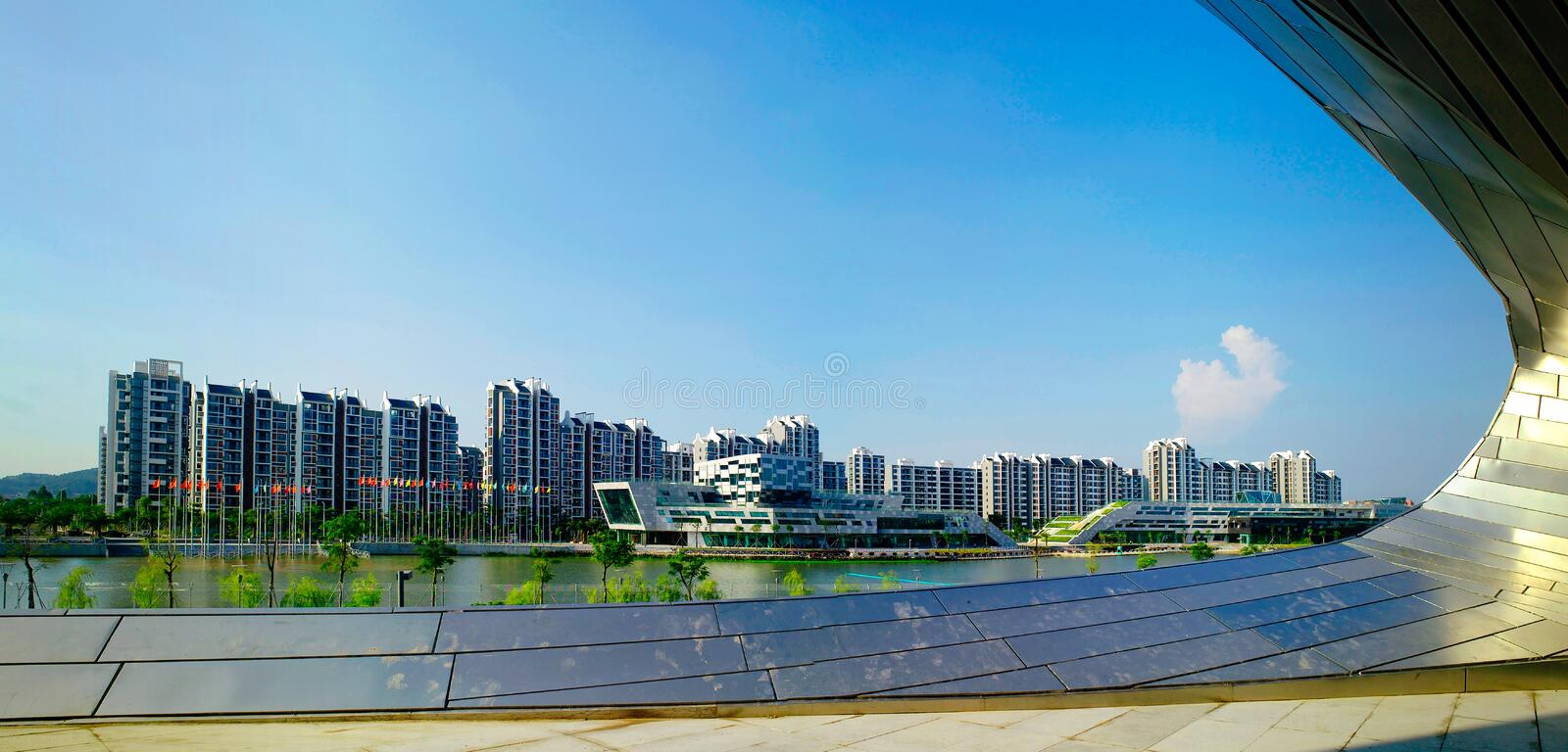 Download Athletes Village editorial photo. Image of institution - 28267066