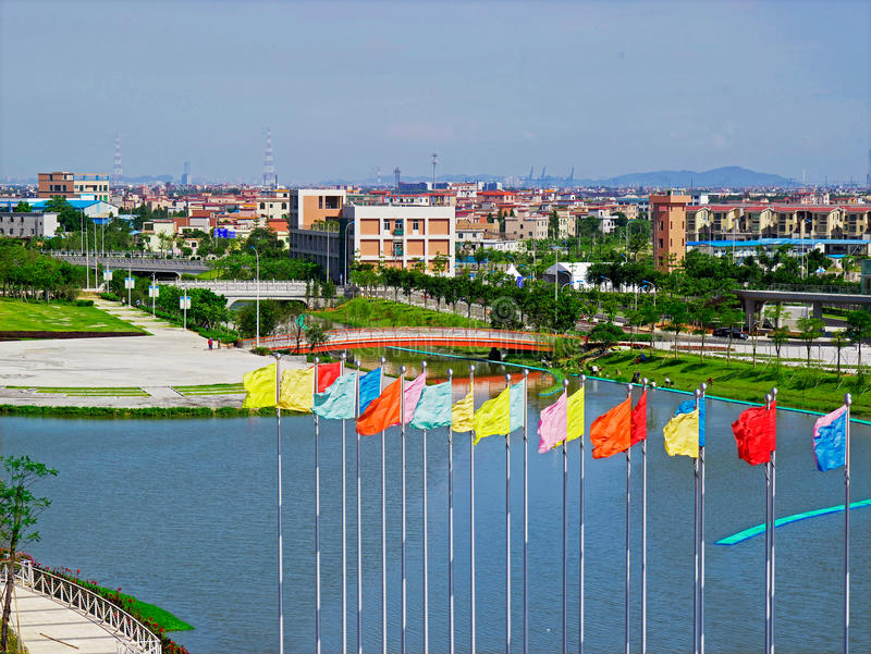 Download Athletes Village flags editorial photography. Image of entrance - 28268067