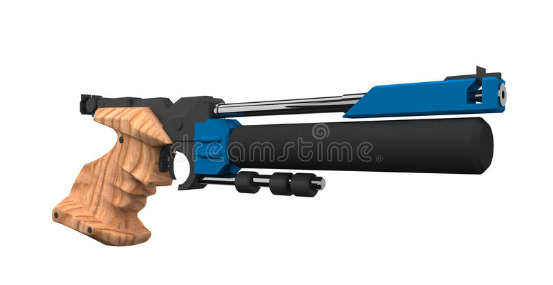 Athletic Air gun vector illustration