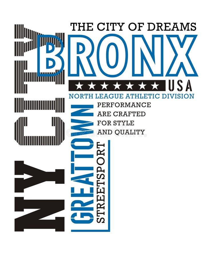 Athletic NY City Bronx royalty free illustration