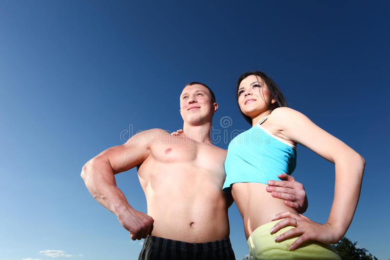 Download Athletic couple stock photo. Image of handsome, bright - 26201034