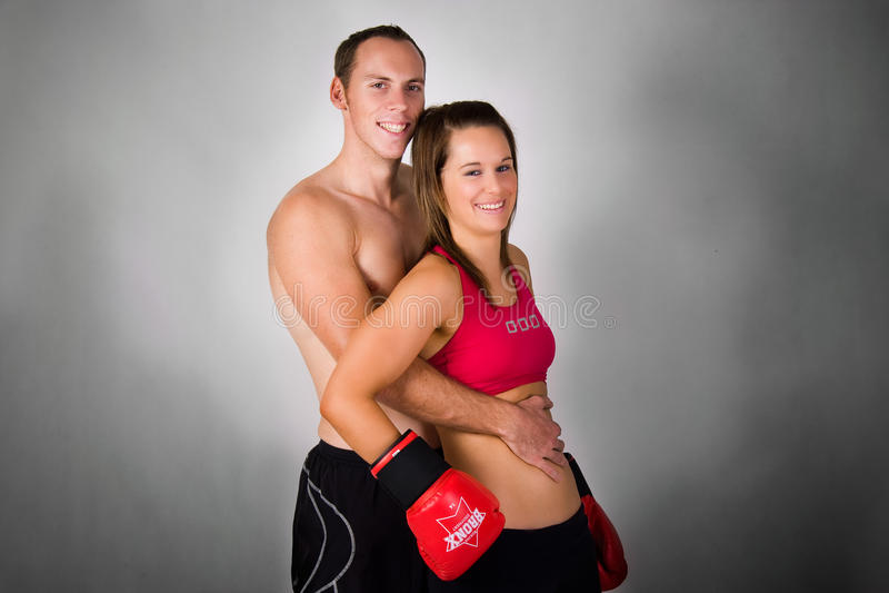 Athletic couple stock photo