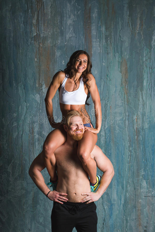 Athletic couple. stock photography