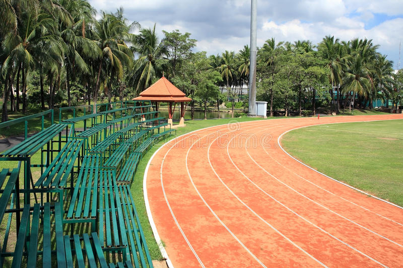 Download Athletic Curved Running Track Royalty Free Stock Image - Image: 26009416