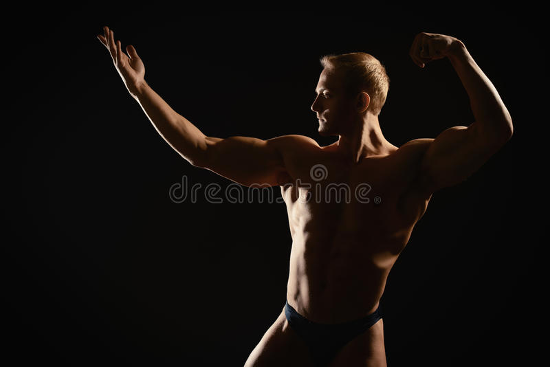Athletic dark royalty free stock images