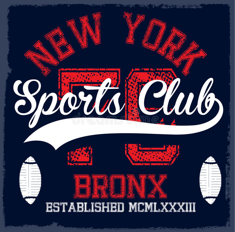 Free Athletic Dept. New York Varsity Sport Vector Print And Varsity. Royalty Free Stock Image - 86340906