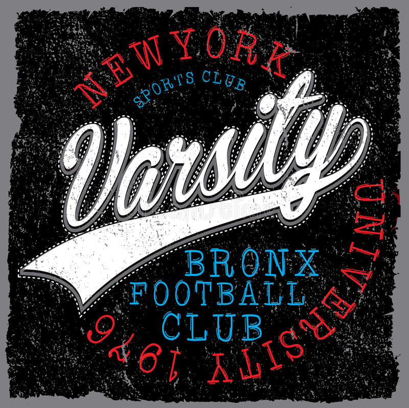 Free Athletic Dept. New York; Varsity Sport Vector Print And Varsity. Royalty Free Stock Photo - 86467725