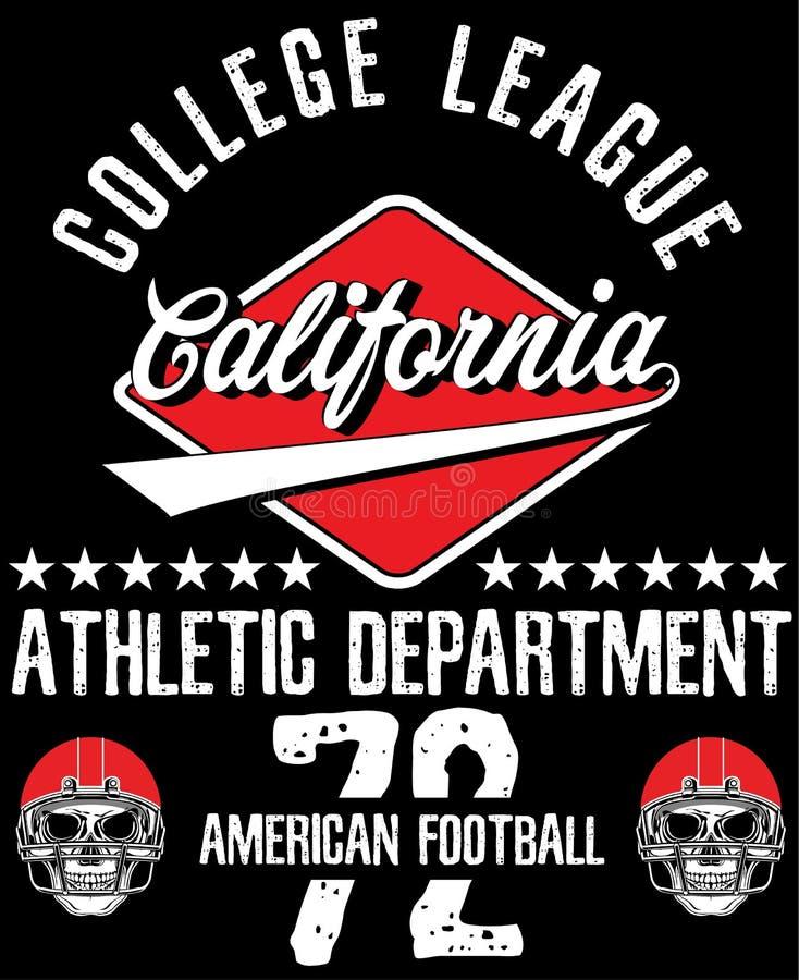 Athletic Dept. New york Varsity Sport vector print and varsity. stock illustration
