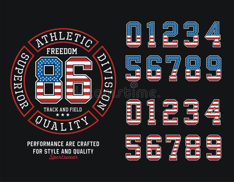 Athletic Division United States Freedom T-shirt Graphic, Vector Image. Athletic United States of America Freedom Typography Design, Tshirt Graphic, Vector Image vector illustration