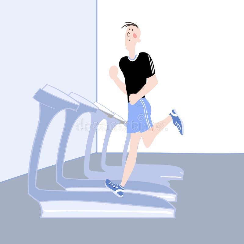 athletic exercises 库存例证