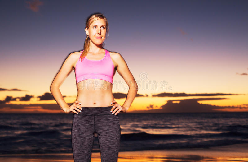 Athletic Fitness Woman royalty free stock photo