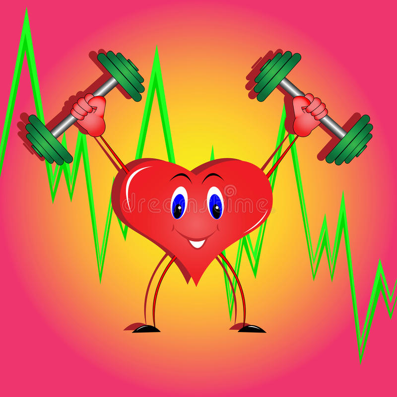 Download Athletic heart stock vector. Image of graphics, confidence - 21028418
