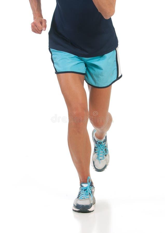 Athletic lady running