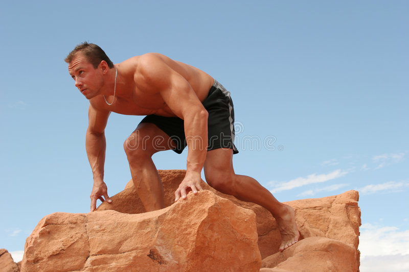 Athletic man stock photography