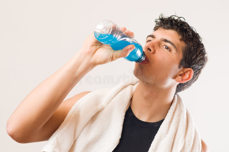 Download Athletic Man Drinking Energy Drink Stock Image - Image: 8507101