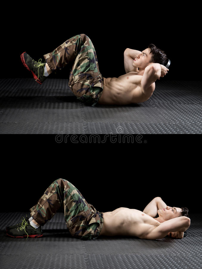 Athletic Man Exercising royalty free stock images