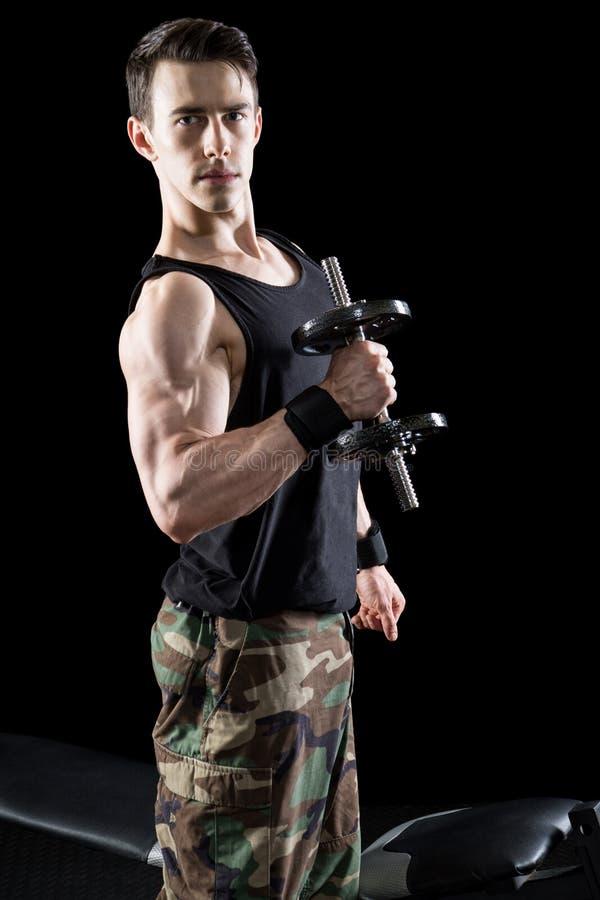 Athletic Man Exercising stock photo